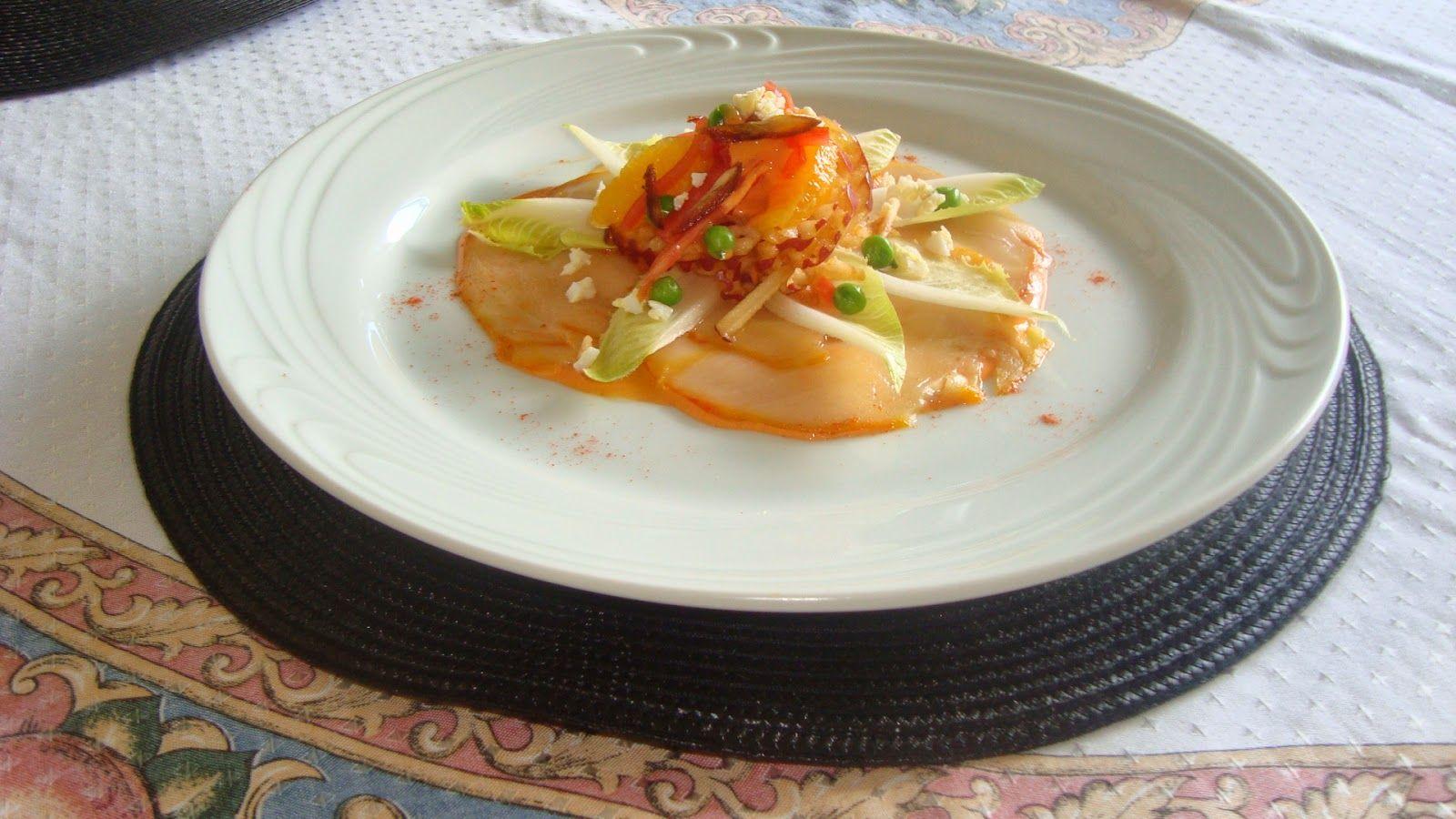 Falemos de gastronomia: Carpaccio de Haddock Mediterrâneo by JM