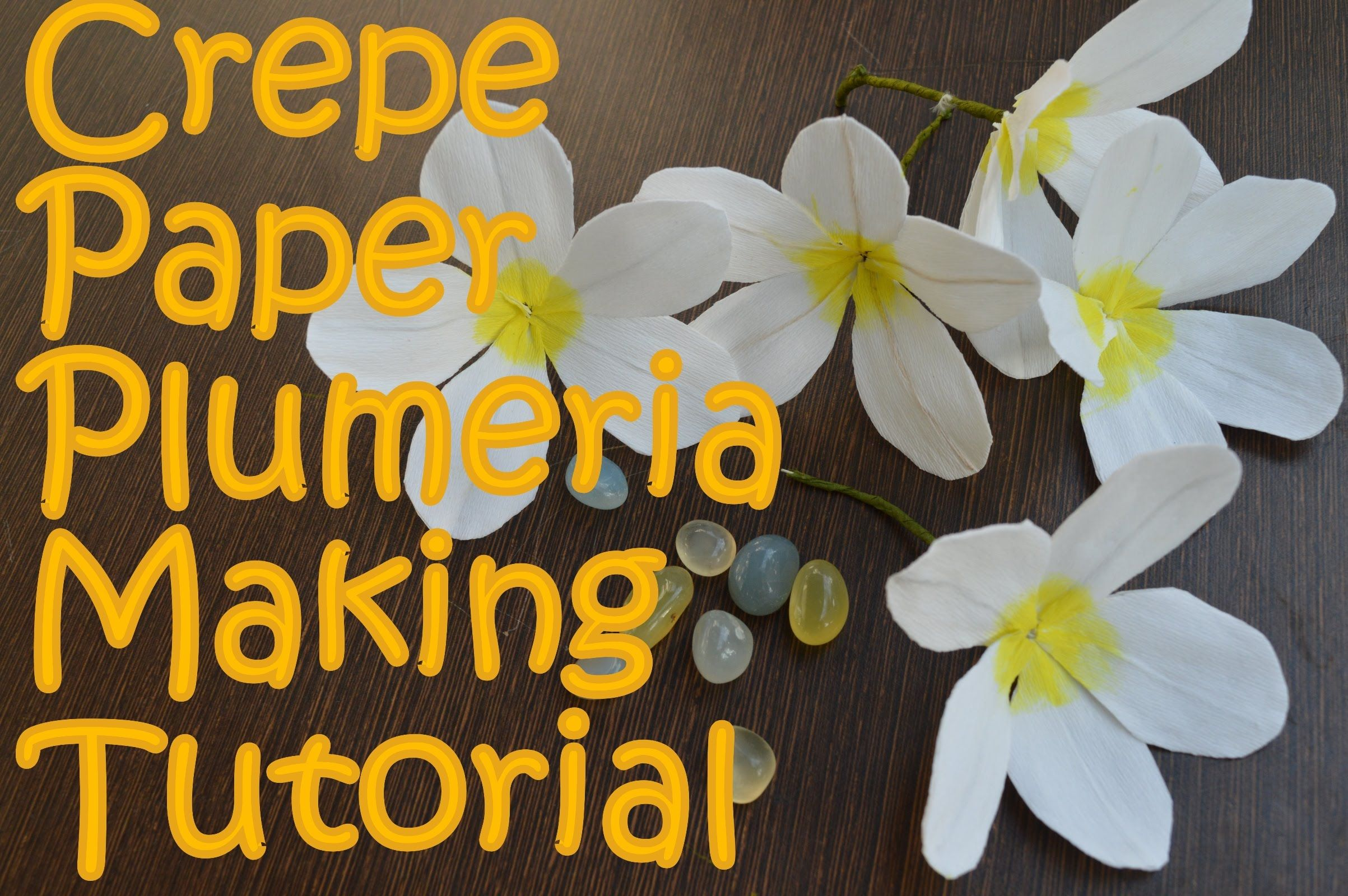 Crepe paper plumeria flower making tutorial av visuals tutorials diy how to make crepe paper plumeria flower also called frangpani at home easily looks great in various decorations including hawaiian lei izmirmasajfo Choice Image