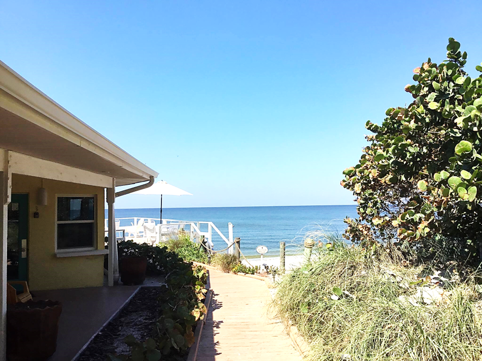 We're located right on the beach on Manasota Key ...