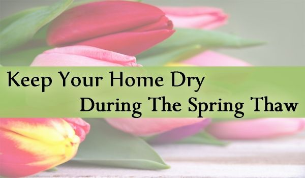Keep Your Home Dry During the Spring Thaw