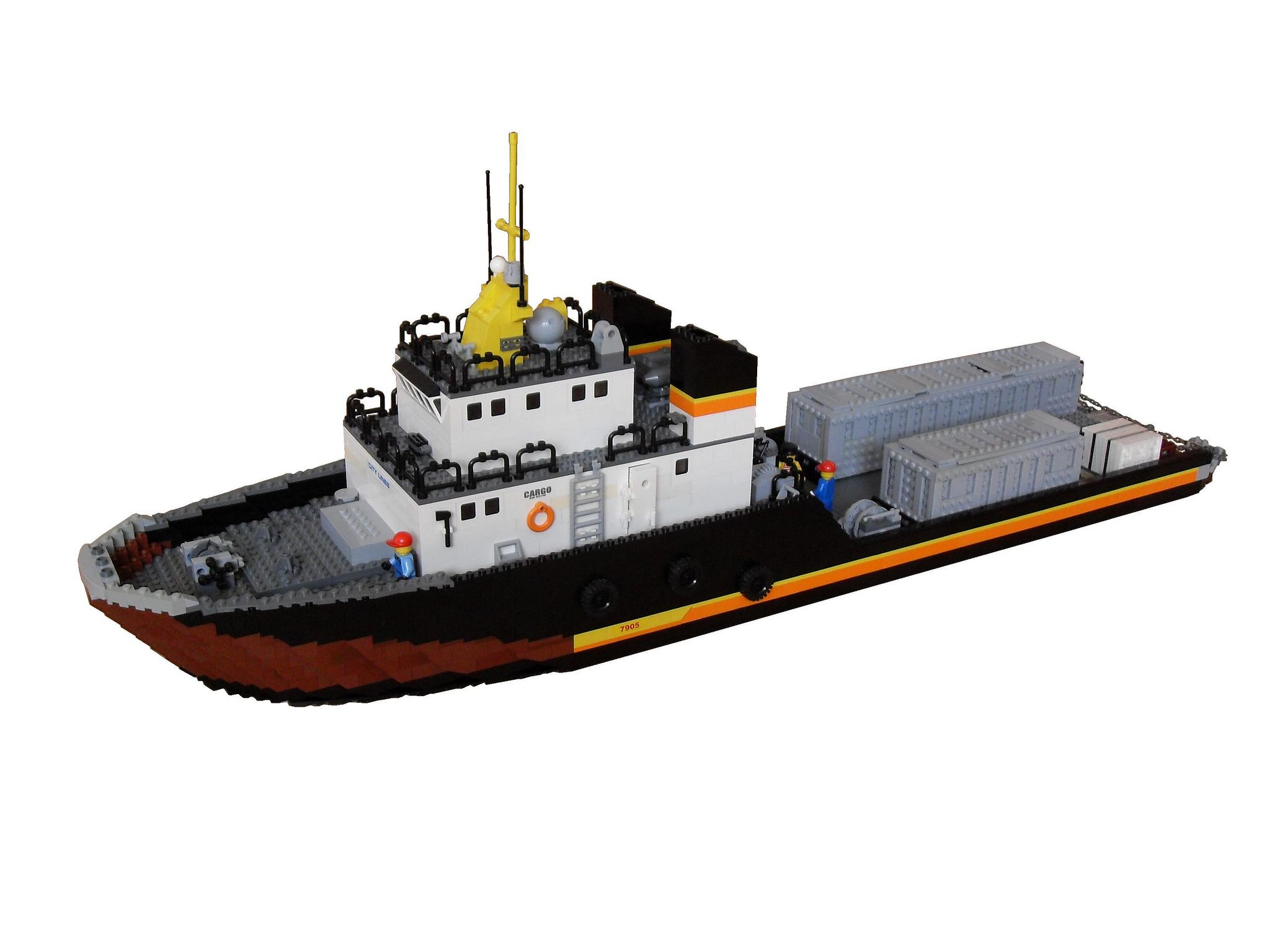 lego bateau scale 40 build flickr supply vessel lego ships 20 feet oil rig lego city lego ideas