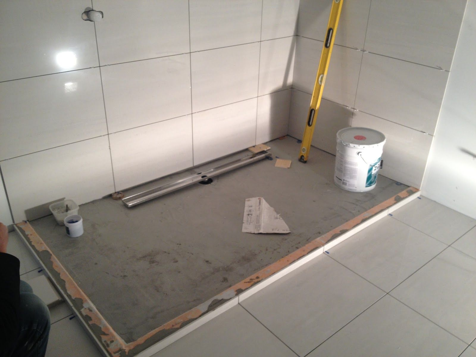 .NO CURB.( Linear Shower Drains and Barrier Free Bathrooms