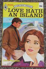 LOVE HATH AN ISLAND ANNE HAMPSON VINTAGE HARLEQUIN NEW ROMANCE BOOK #51522 1971