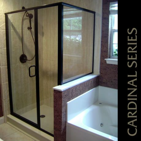 Cardinal Swing Door Enclosure With Optional C Pull And Oil Rubbed Bronze Finish Cardinal Shower Enclosures Framed Shower Door Bathrooms Remodel