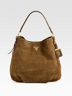 18d0fa5d2088 ShopStyle  Prada Scamosciato Hobo Replica Handbags