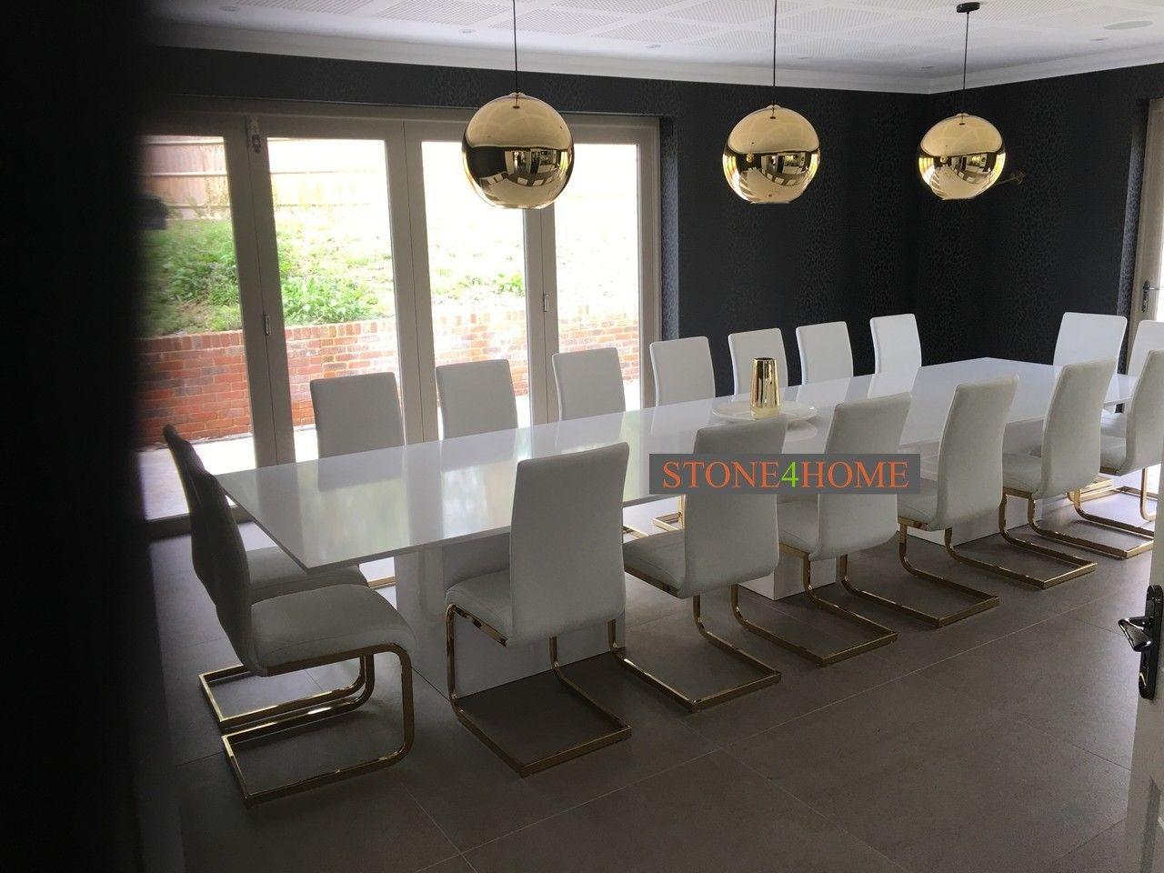 Super White Super Sized Stunning Quartz Dining Tables On Three