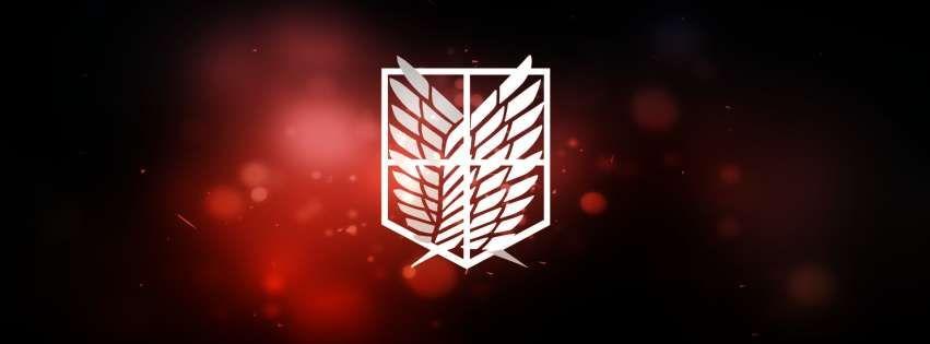 Anime Attack On Titan The Scouting Legion Emblem Facebook Cover Attack On Titan Facebook Cover Twitter Header Photos