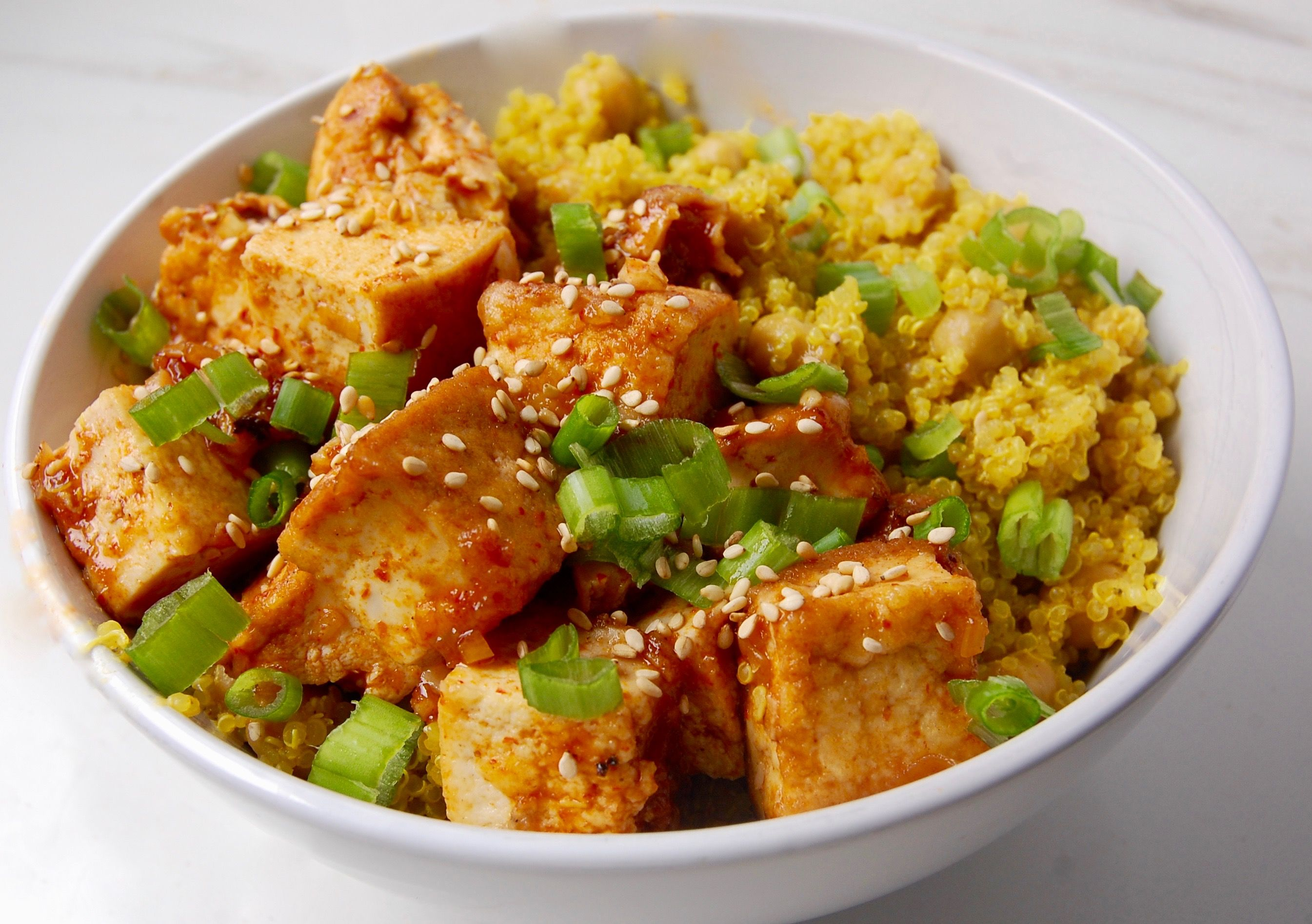 Manuka Honey Sriracha Tofu