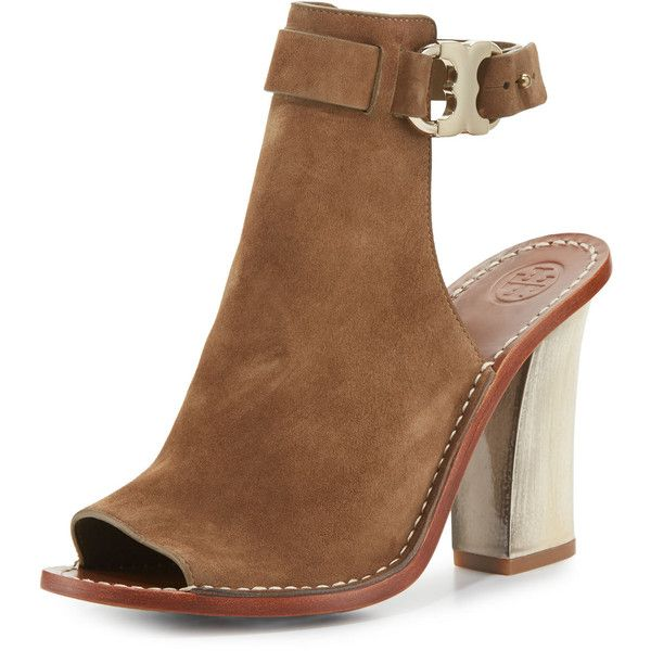 90ed813d3 Tory Burch Gemini Link Open-Toe 100mm Bootie ( 360) ❤ liked on Polyvore.  Bootie BootsAnkle ...