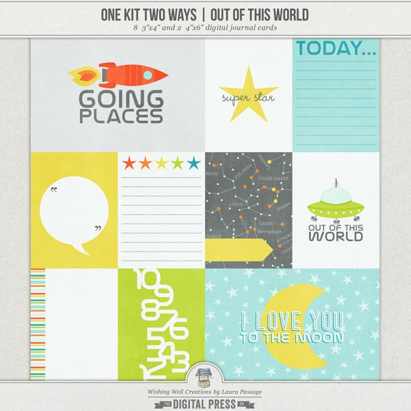 Creations By Laura: One Kit Two Ways: Out Of This World