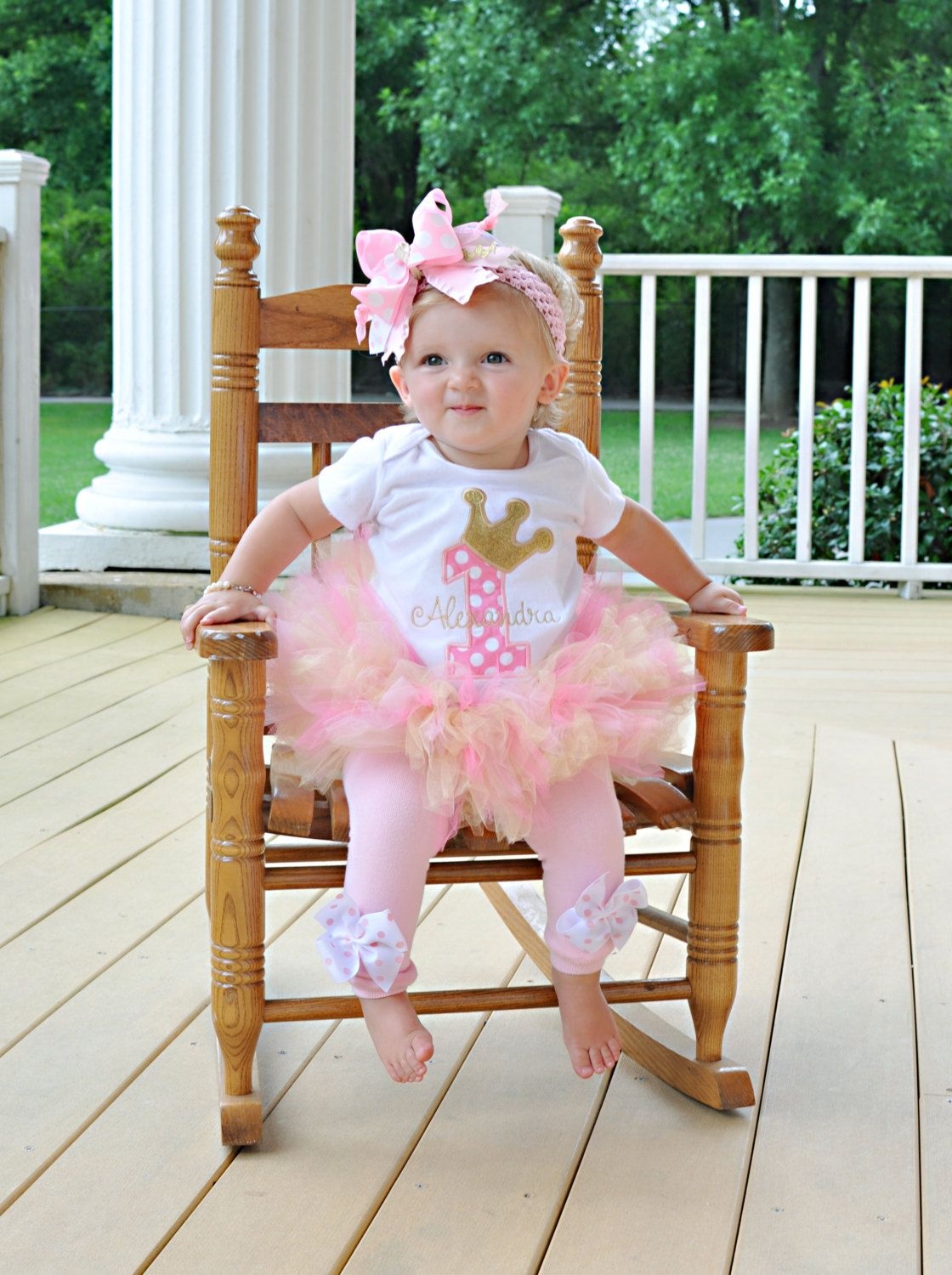 Pink and Gold Birthday Tutu Outfit Royal Princess As Seen in VOGUE ...