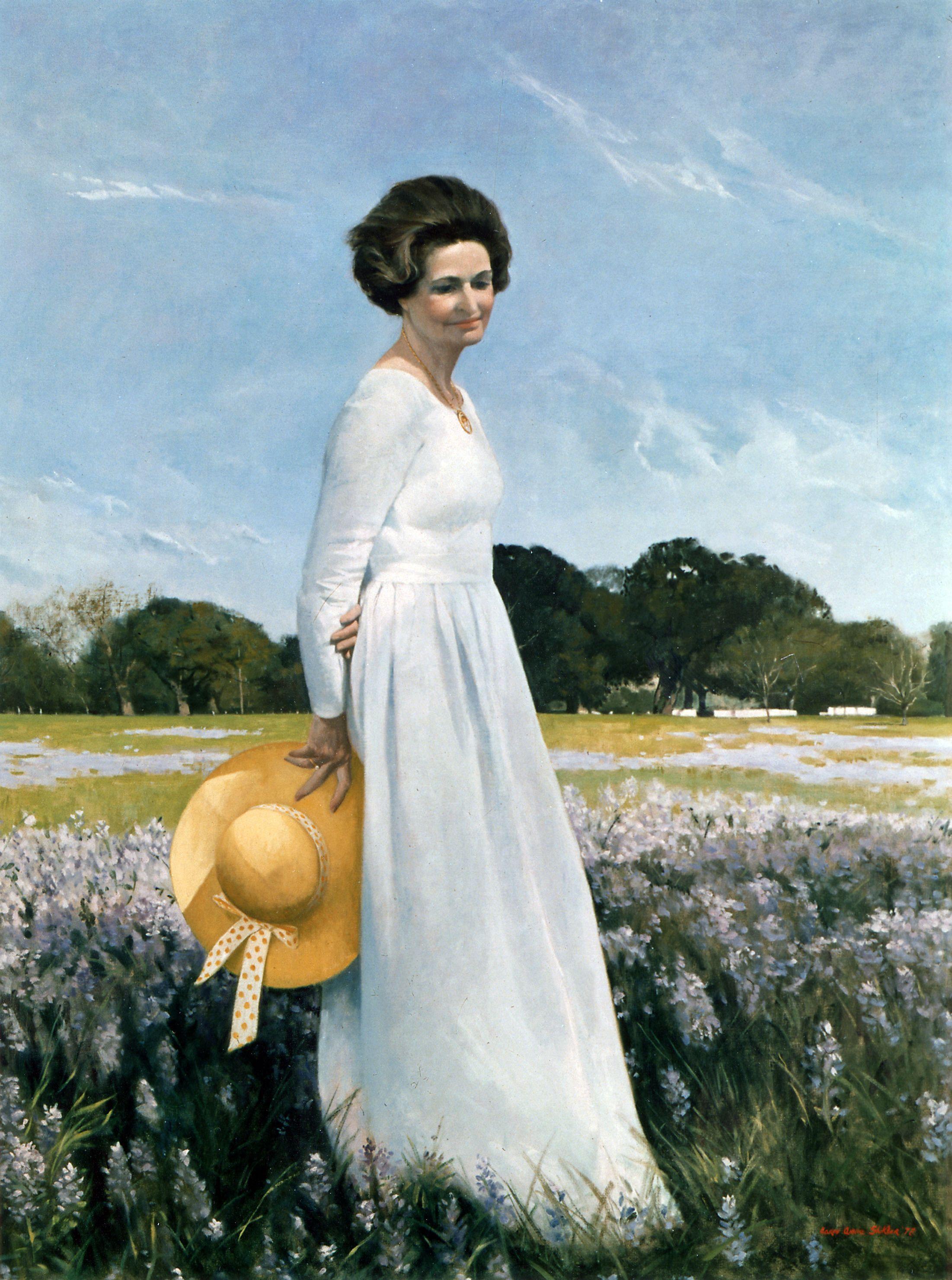 Image result for lady bird johnson portrait
