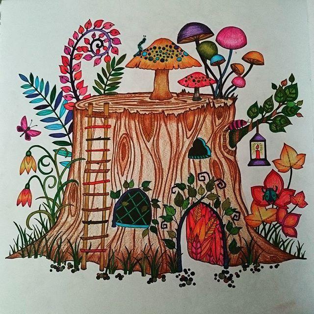 Hkig Secretgardenbook Weekend Photo Taken By Teresaleungter On Instagram Johanna BasfordAdult ColoringColoring BooksIos AppForestsStemsVintage