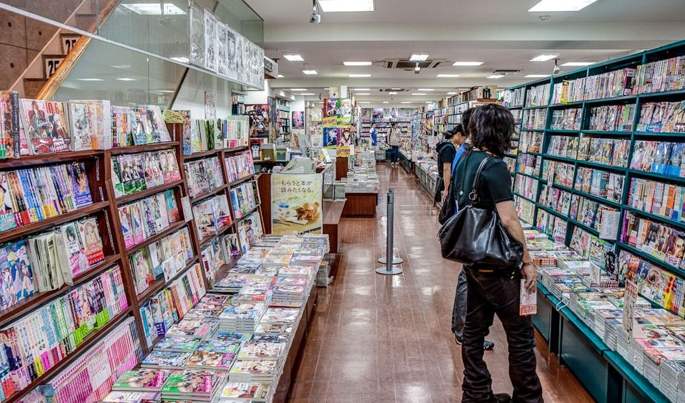 Huge Anime/Manga Store Japan Pinterest Japan