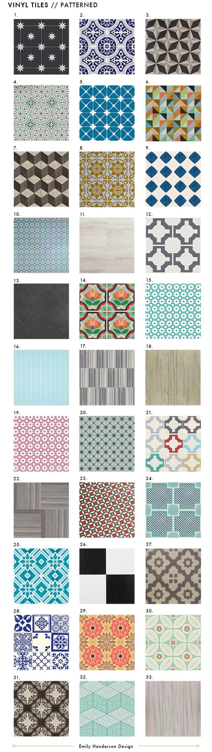 Best Affordable Vinyl Tile Emily Henderson Patterned Floor Tiles Vinyl Tile Vinyl Tiles