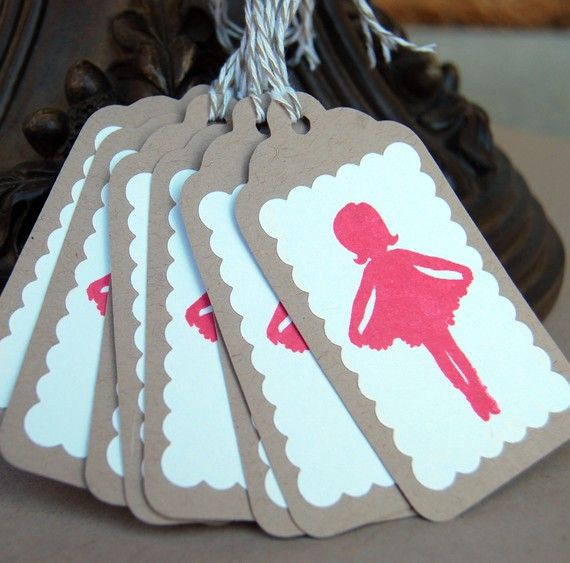 Little Miss Curtsey in Pink Gift Tags by MariaSoleil on
