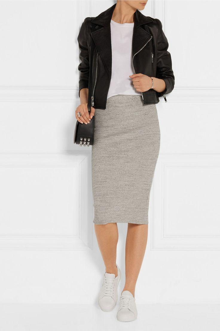 3df73e5d7 Resultado de imagen para falda gris   Faldas   Falda gris, Outfits ...