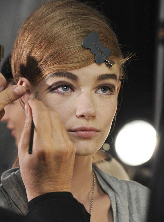 Twiggy eye MakeupTrend for Spring Summer 2013.  Marc JacobsSpring Summer 2013.    #makeup #trends