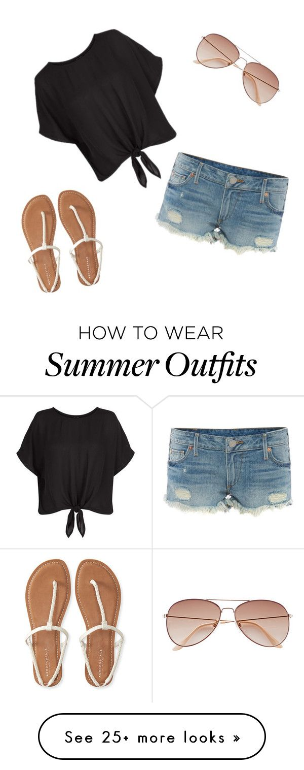 """Summer Outfit :)"" by emi-75 on Polyvore featuring True Religion, Aéropostale and H&M"