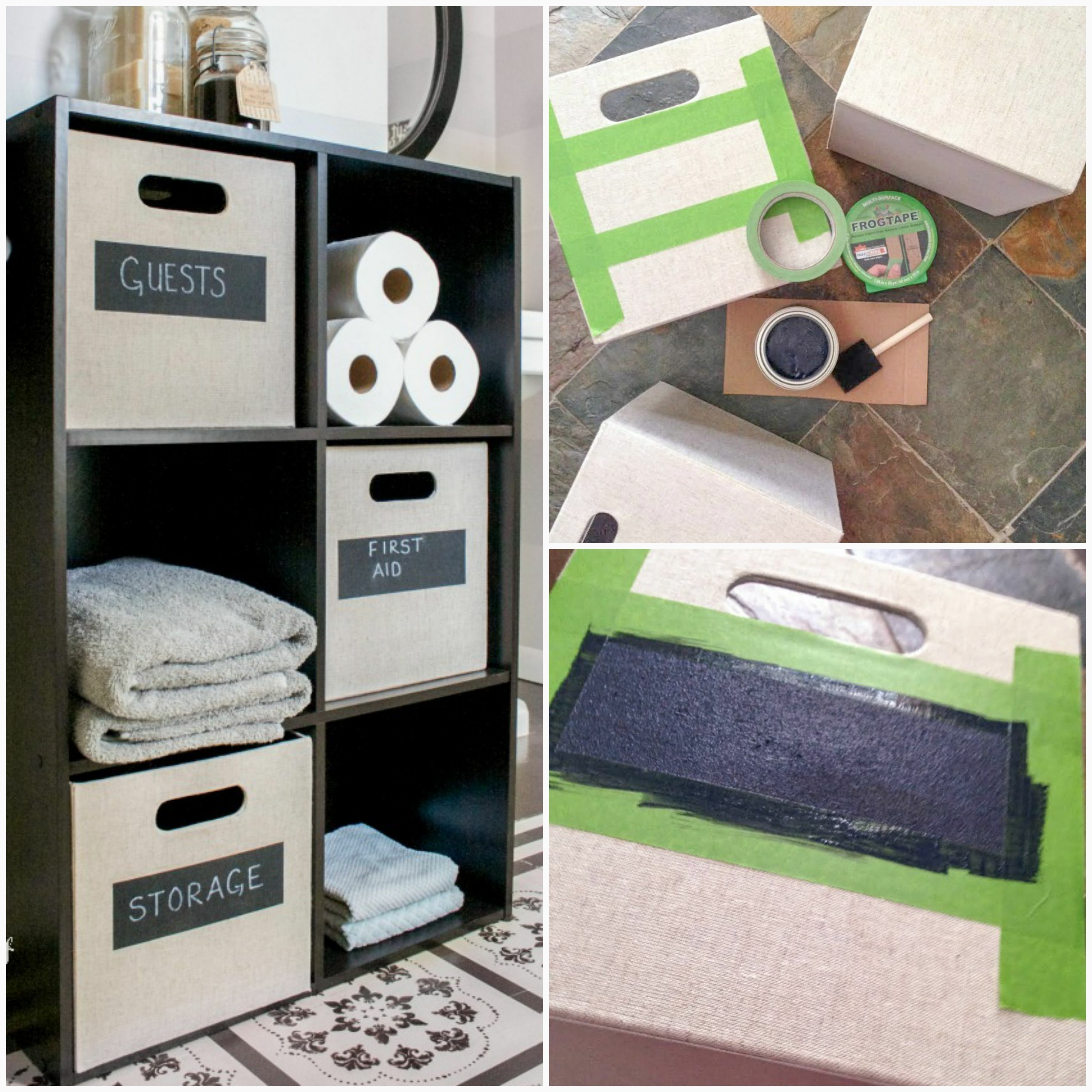 Diy Bins Great For A Kids Room Crafts Bathroom Or In The Clroom Supplies Needed