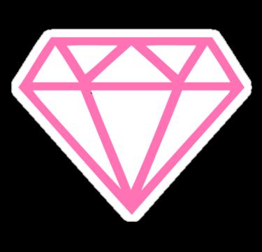 Pink Diamond Sticker By Mamisarah In 2020 Tumblr Png Diamond Tattoo Designs Pink Diamond