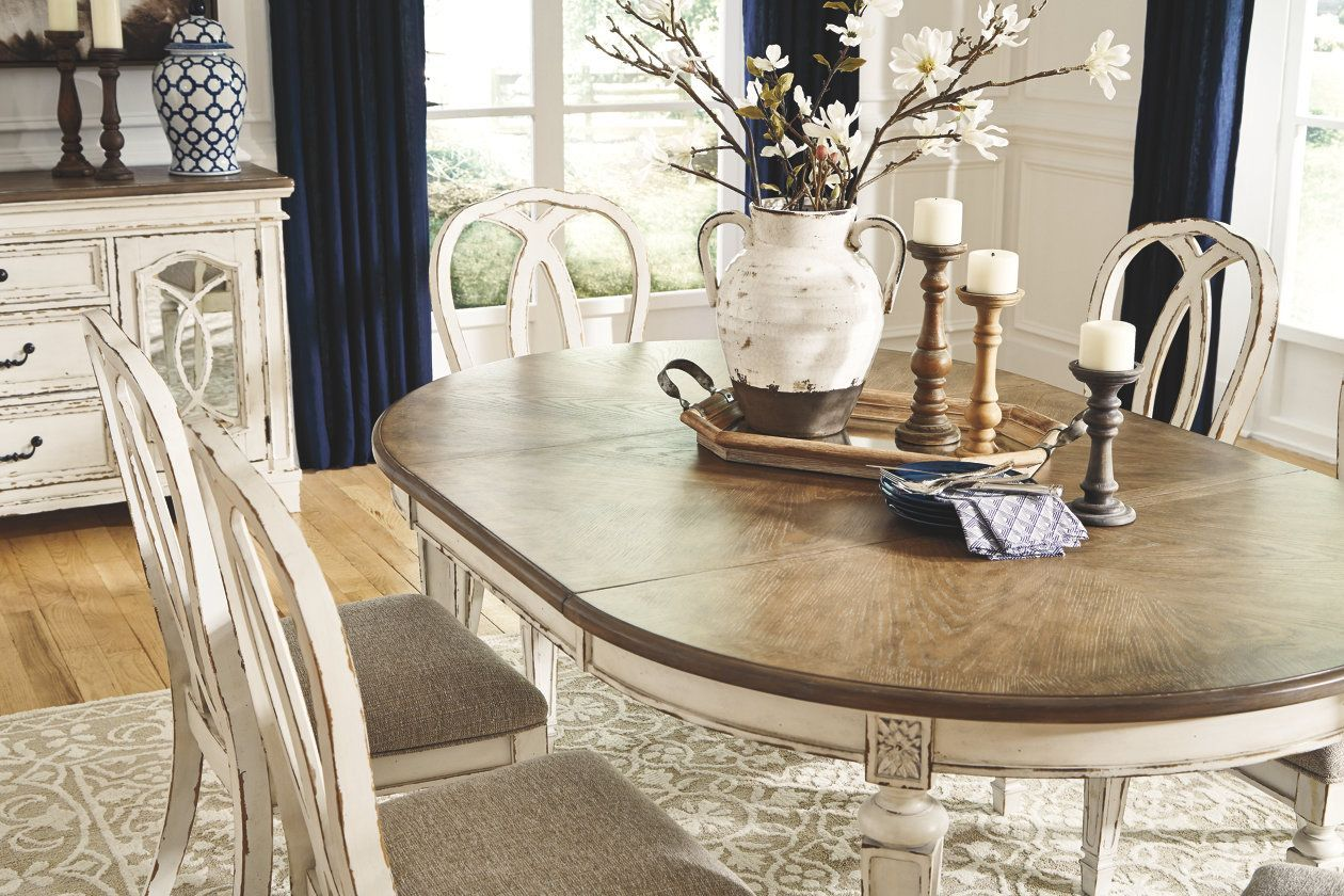 Realyn Dining Room Extension Table With Images Beautiful
