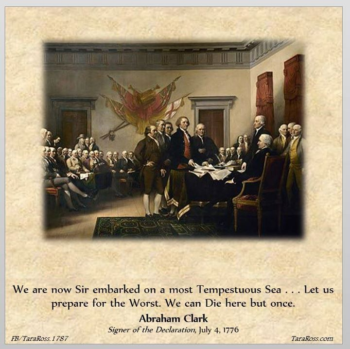 Just before the Declaration of Independence was formally approved