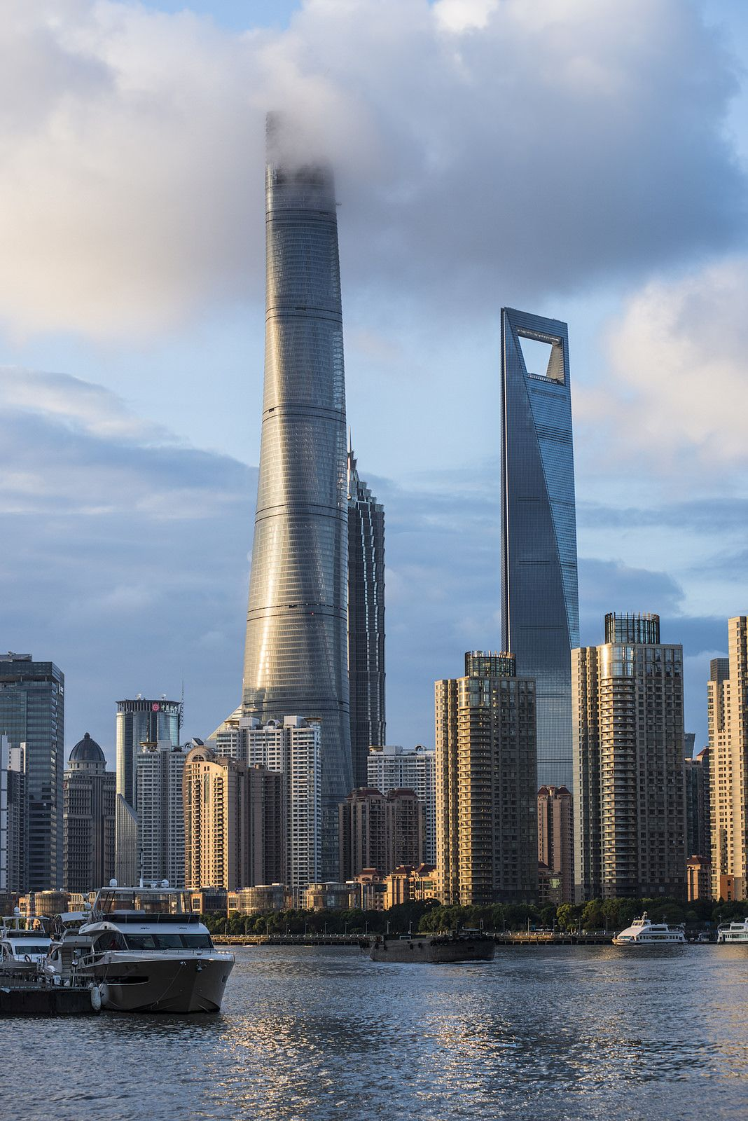 Awesome Shanghai Tower touching the clouds   China   Pinterest ...