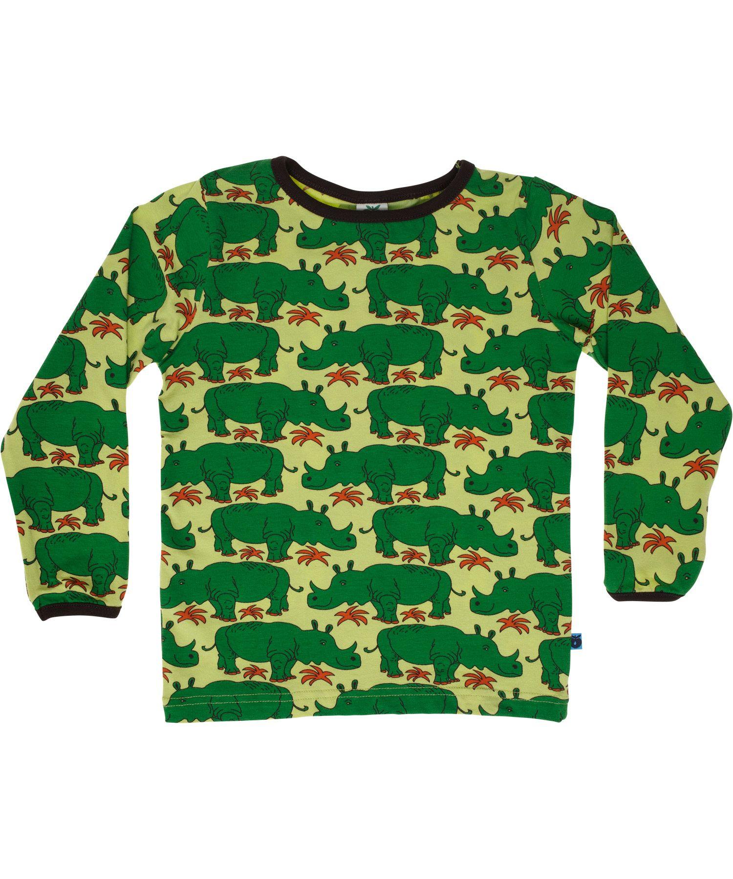 9cfb3eec60e4d1 Småfolk frisgroene t-shirt met nijlpaard printRhinos