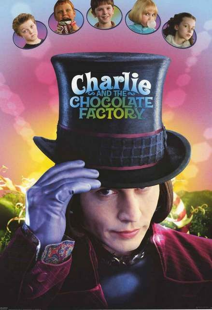 charlie and the chocolate factory movie cast poster 24x34