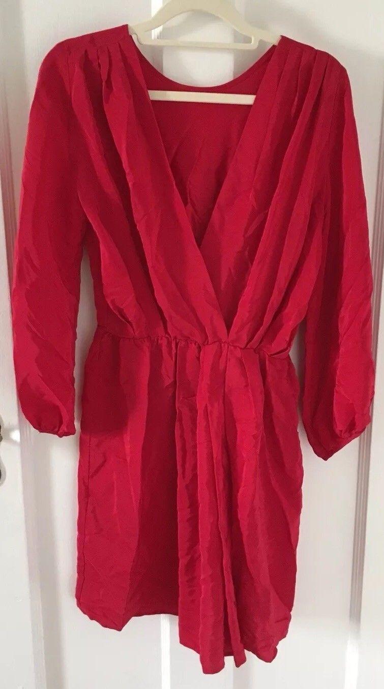 Awesome awesome amanda uprichard womens chelsea red silk long