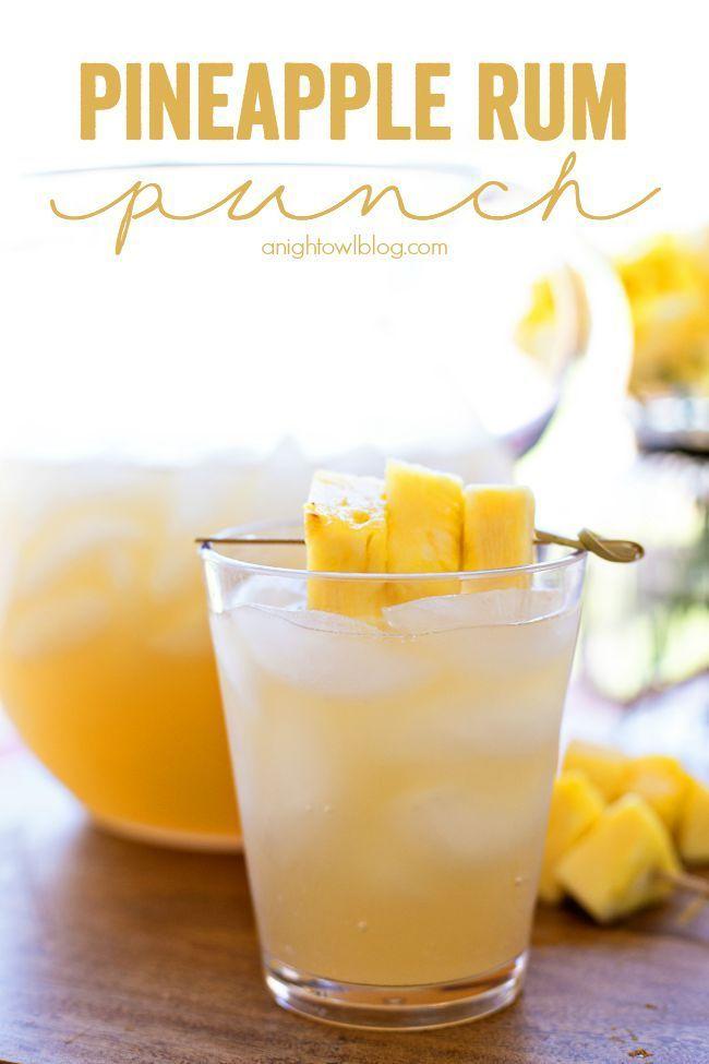 Pineapple Rum Punch Recipe Pineapple Rum Food Drink Yummy Drinks