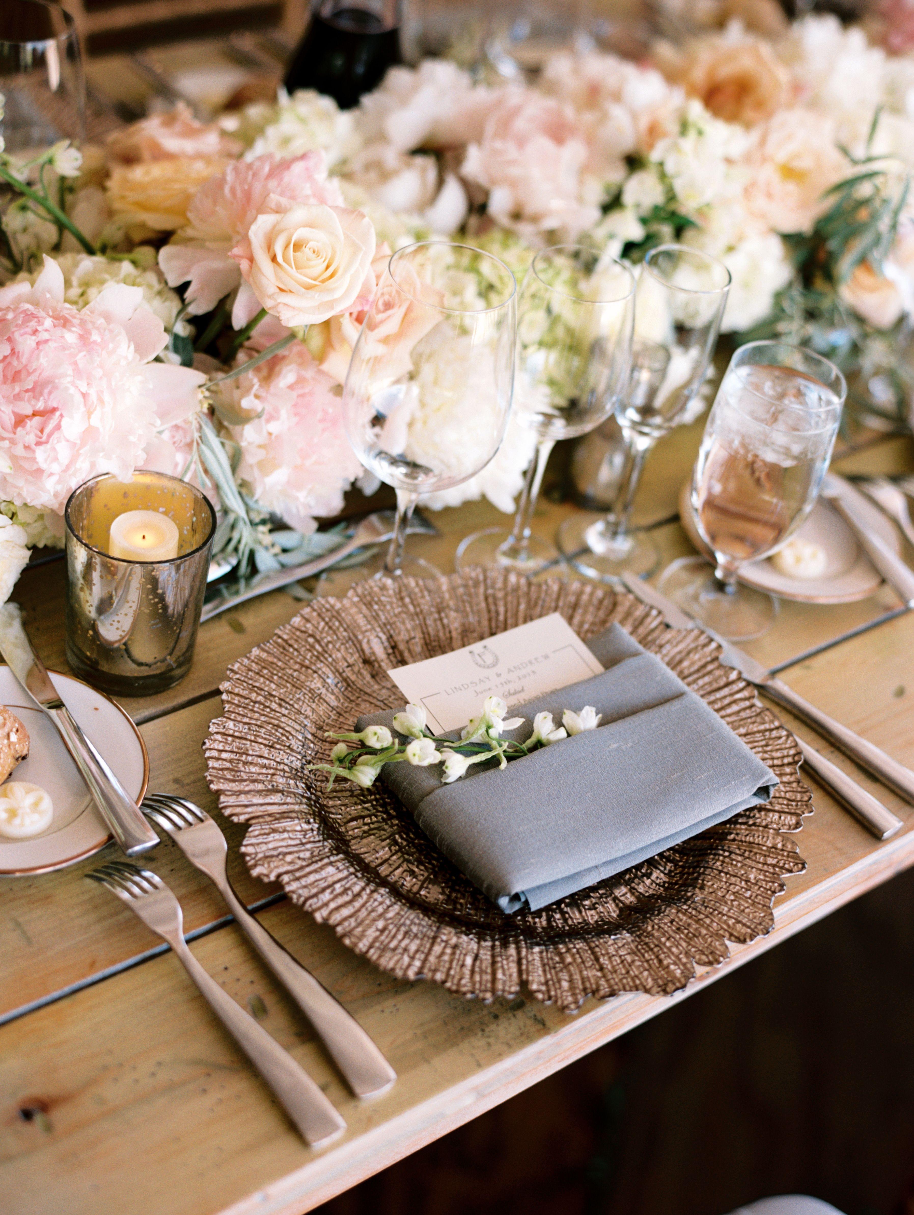 Tented Utah Mountain Wedding Wedding table settings