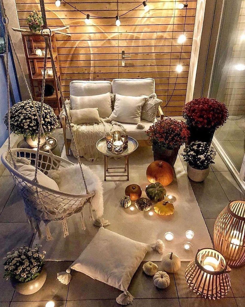 17 Elegant And Cozy Balcony Ideas in 17  Apartment balcony