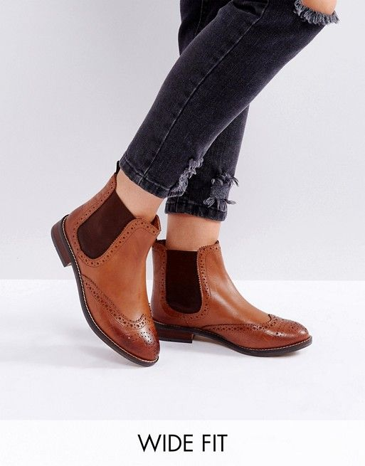 Discover Fashion Online Shoes Leather Ankle Boots Boots Tan