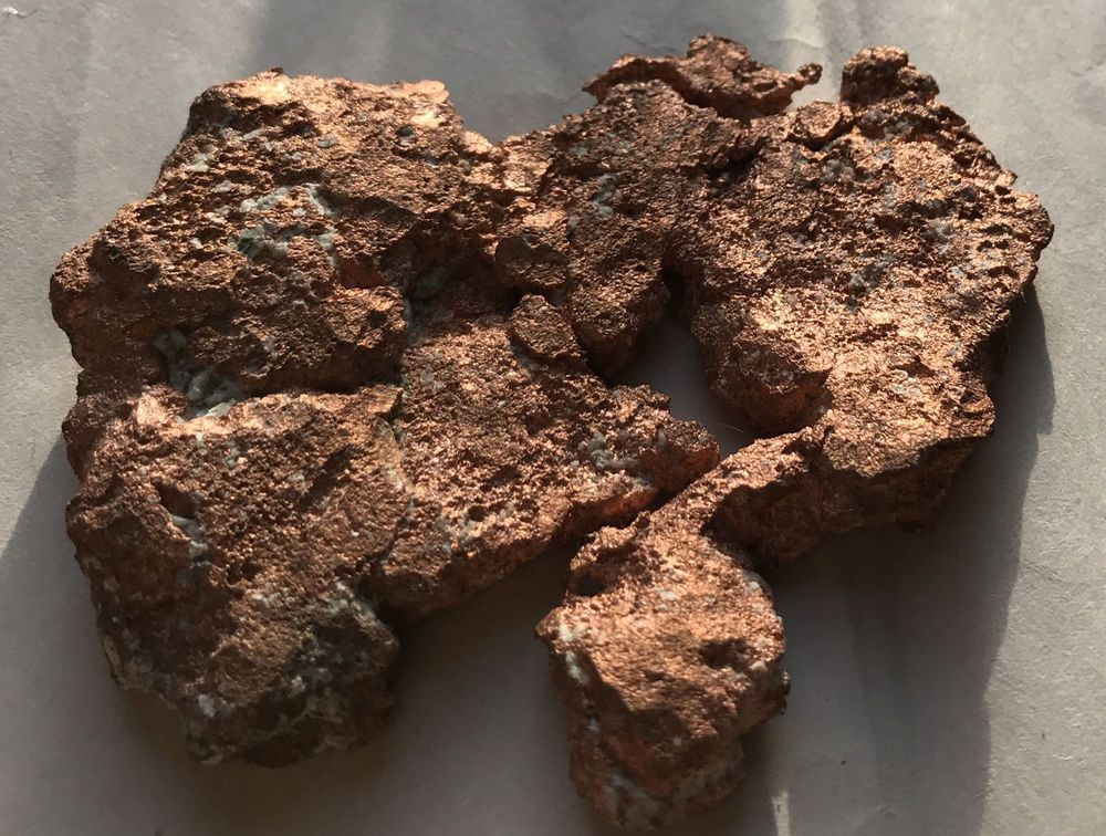 Michigan Cleaned Native Copper Specimen  Keweenaw  Calumet