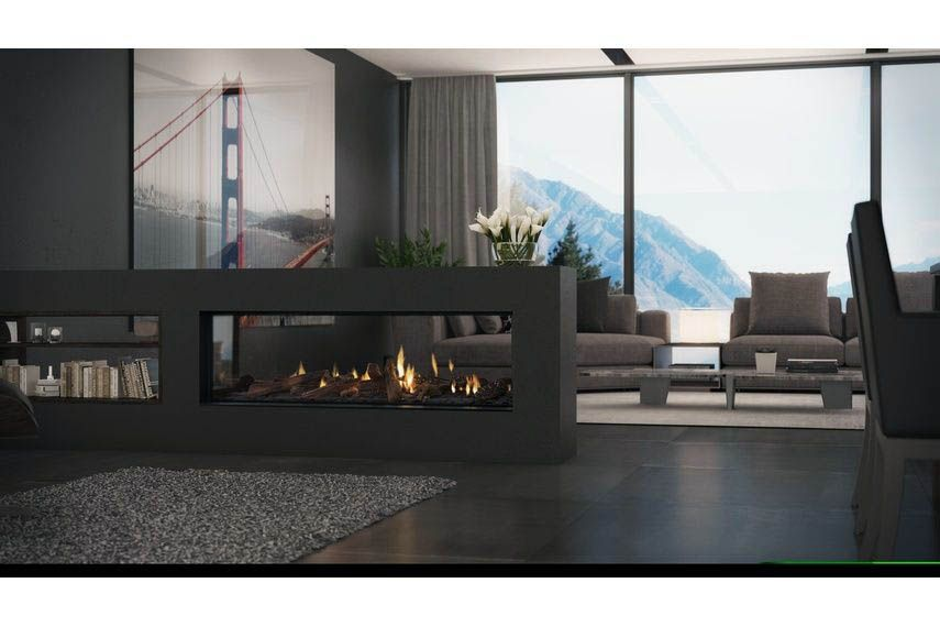 Real Home Inspiration Double Sided Fireplace Jetmaster