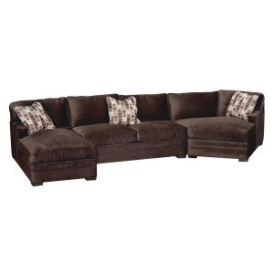 Mocha Microfiber 3 Piece Sectional House Decorating