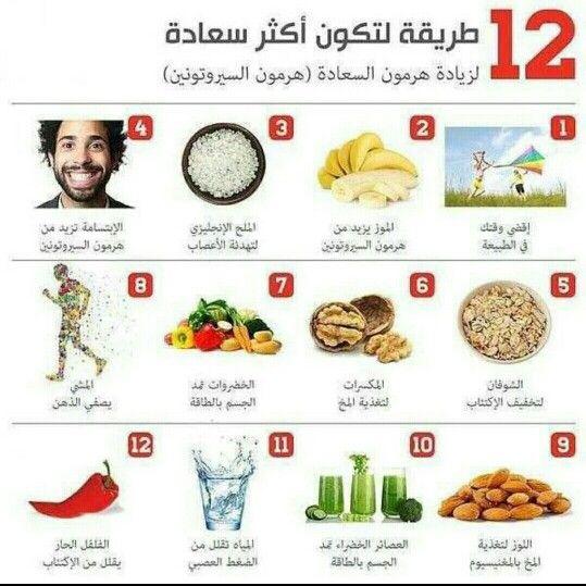 لزيادة هرمون السعاده Health Healthy Life 10 Things