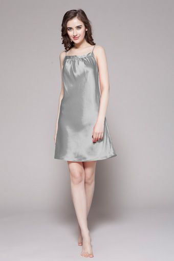 Treat yourself. The perfect gown by Lilysilk is smooth and pure with beautiful detail at the bust. $86 #nightgowns #silk #lilysilk