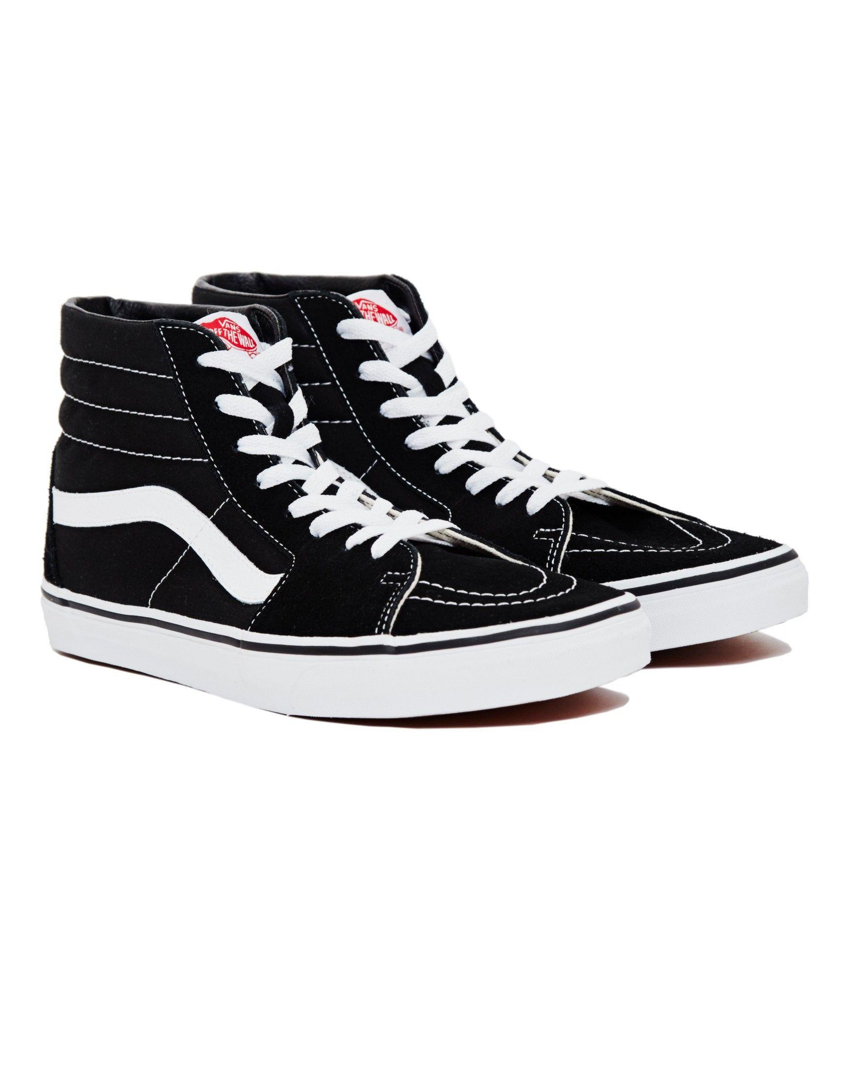 Vans - Sk8-Hi Trainers Black | How to lace vans, Cool mens ...