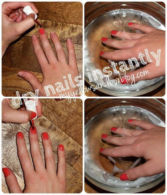 Dry Your Fingernails Instantly In Ice Water Dry Nails Dry Nails Instantly Nails
