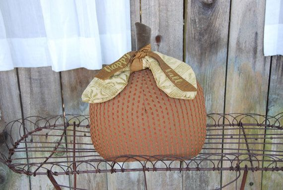 Pumpkin Pillow  Happy Fall by MagnoliaMakery on Etsy