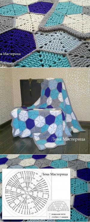 ВЯЗАНИЕ МОТИВЫ КРЮЧОК   Manta, Crochet fácil y Cuadrados de abuelita