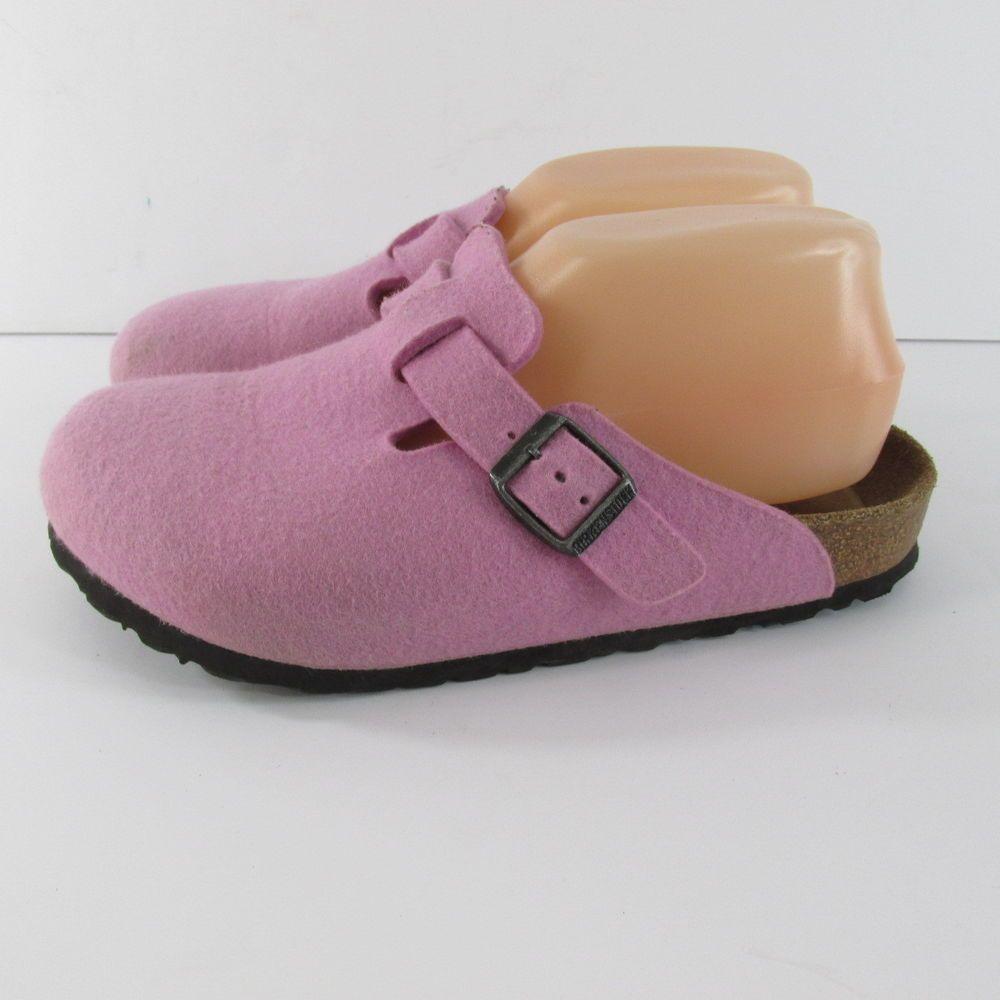 deb5b2c4c1d6e7 Birkenstock Boston Pink Felt Wool Mules Clogs Women s Size 38 L7 Soft  Footbed  Birkenstock  Mules  Casual