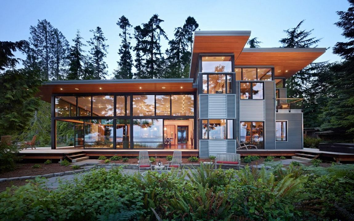 Modern Waterfront Home Plans Lovely Breathtaking Luxury Waterfront ...