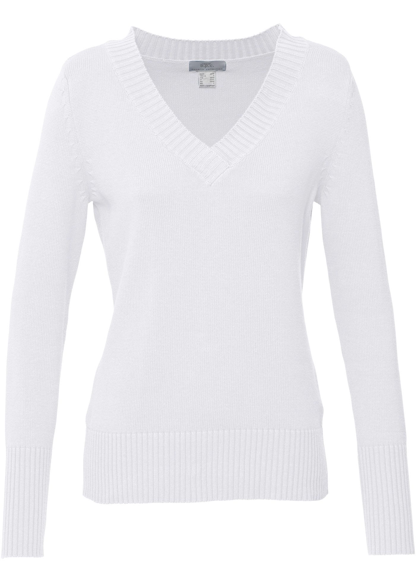 Bonprix knit sweater white cotton | Sweaters Jumpers Hoodies ...