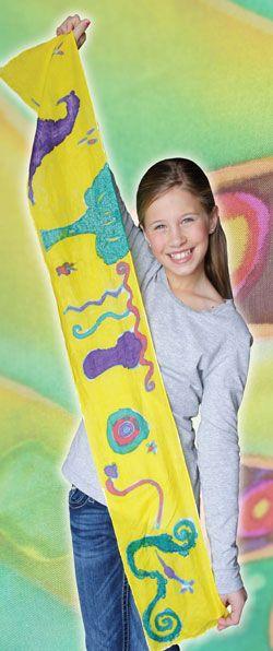 Hand-Painted Silk Scarf | U.S. Kids