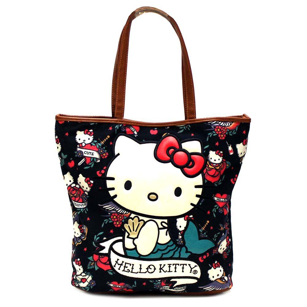 63406050f Loungefly X Hello Kitty Mermaid Tattoo Tote Handbag   Loungefly ...