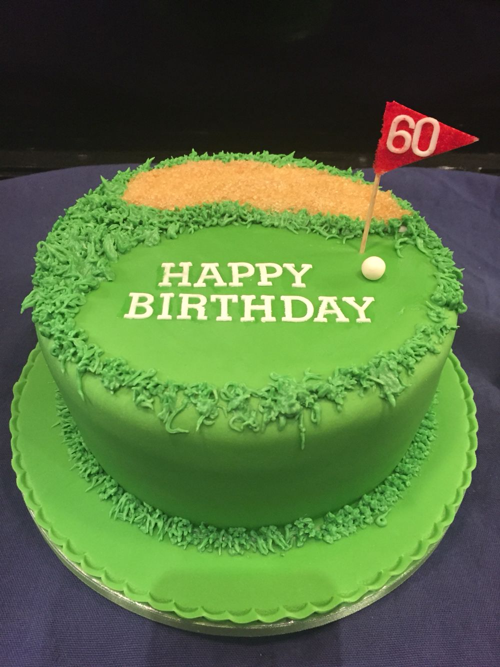 Awesome 60Th Birthday Golfing Themed Cake Golf Themed Cakes Golf Birthday Cards Printable Trancafe Filternl